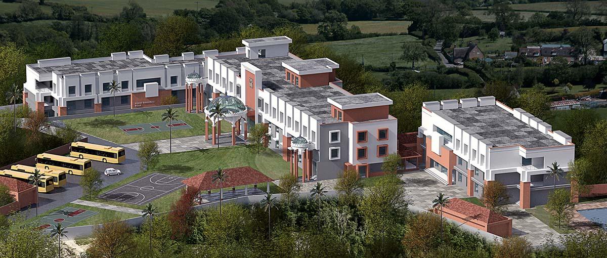 Sri sri Academy Aerial view